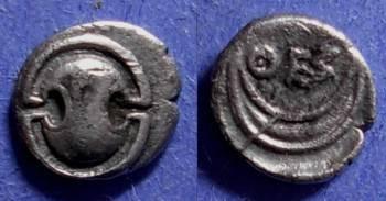 Ancient Coins - Thespiae Boeotia - Obol Circa 350 BC
