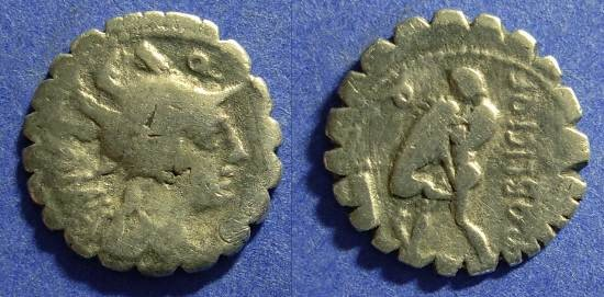 Ancient Coins - Roman Republic - Poblicia 9 Denarius - 80BC