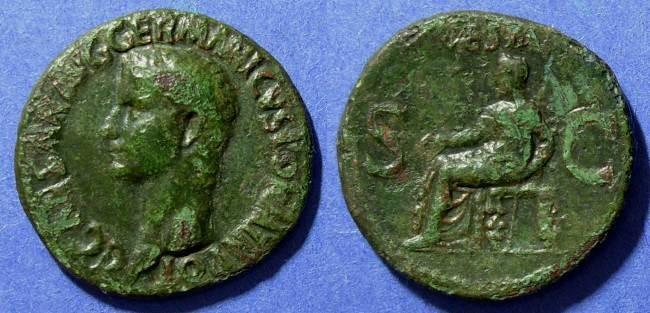 Ancient Coins - Roman Empire, Caligula 37-41 AD, As