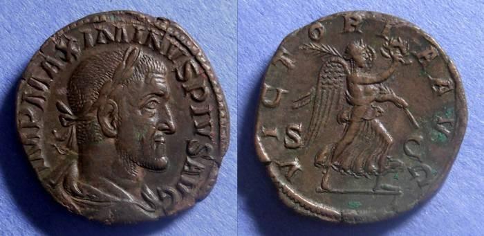 Ancient Coins - Roman Empire, Maximianus 235-8, Sestertius