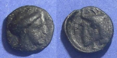 Ancient Coins - Euboean League,  369-313 BC, AE12