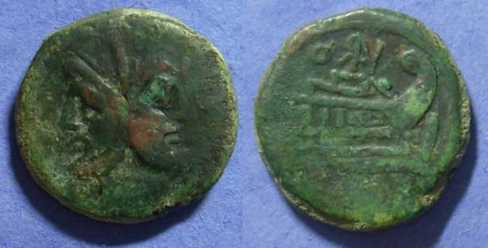 Ancient Coins - Roman Republic – Aes 169-158