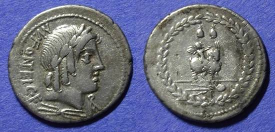 Ancient Coins - Roman Republic - Denarius 85BC - Fonteia 9