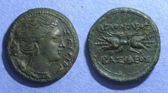 Ancient Coins - Syracuse, Agathocles 317-289 BC, AE22