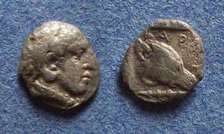 Ancient Coins - Macedonian Kingdom, Archelaos I 413-399 BC, Hemiobol
