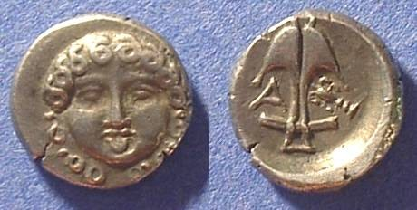 Ancient Coins - Apollonia Pontika - Reduced Drachm Circa 425  BC