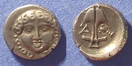 Ancient Coins - Apollonia Pontika - Reduced Drachm Circa 425  BC
