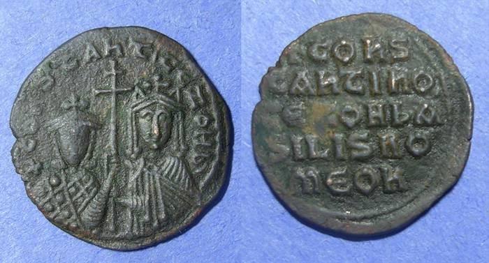 Ancient Coins - Byzantine Empire, Constantine VII & Zoe 913-919, Follis