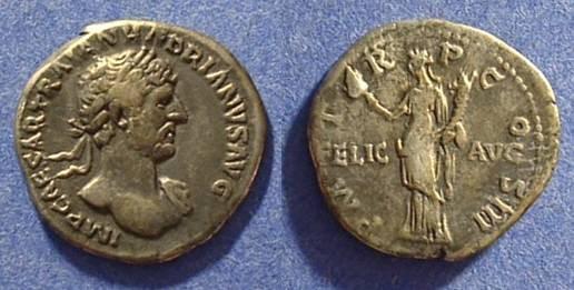 Ancient Coins - Hadrian 117-138AD Denarius