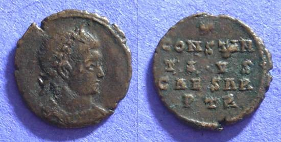 Ancient Coins - Constantius II (as Caesar) 324-337 Anepigraphic AE3 of Trier (R5)