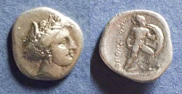 Ancient Coins - Lokris,  350-340 BC, Triobol