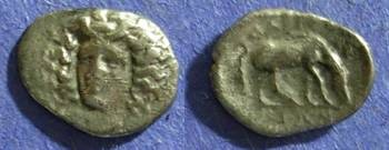 Ancient Coins - Larissa, Thessaly 344-337 BC, Obol