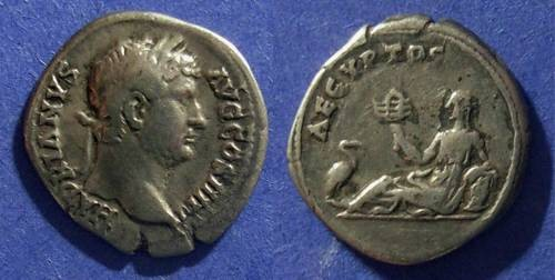 Ancient Coins - Roman Empire, Hadrian 117-138 AD, Denarius
