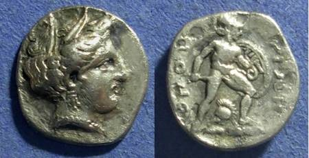 Ancient Coins - Lokris,  380-338 BC, 1/4 Stater