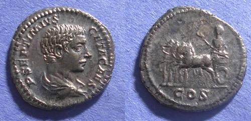 Ancient Coins - Roman Empire, Geta 198-208, Denarius