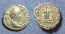 Ancient Coins - Roman Empire, Faustina Sr Died 141, Denarius
