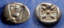Ancient Coins - Ionia, Miletos 550-500 BC, Diobol