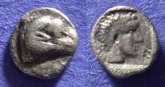 Ancient Coins - Halikarnassos Caria Circa 380 BC – Hemiobol