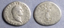 Ancient Coins - Roman Empire, Titus 79-81, Denarius