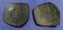 Ancient Coins - Latin Kingdom, Thessalonika mint,  1204-61, Trachy