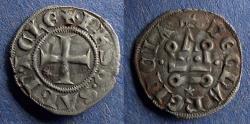 Ancient Coins - Achaea, Philip of Savoy 1301-1306, Denier