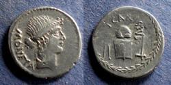 Ancient Coins - Roman Imperatorial, T. Carisius 46 BC, Denarius
