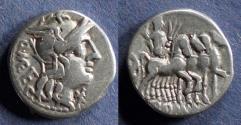 Ancient Coins - Roman Republic, Q Caecilius Metellus 130 BC, Denarius