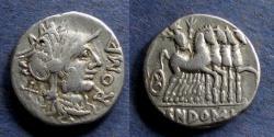 Ancient Coins - Roman Republic, Cn Domitius Ahenobarbus 116-115 BC, Denarius