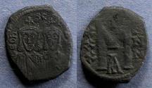 Ancient Coins - Byzantine Empire, Leo V & Constantine 813-820, Follis