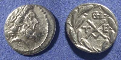 Ancient Coins - Achaian League, Tegea Arkadia 88-30 BC, Hemidrachm