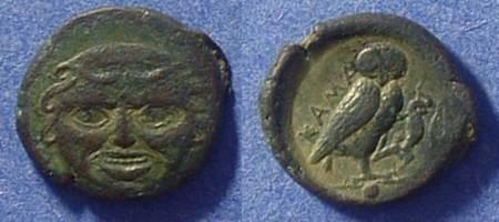 Ancient Coins - Kamarina Sicily AE Onkia 425-405 BC