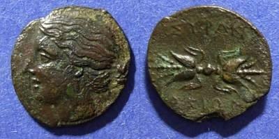 Ancient Coins - Syracuse Sicily,  289-7 BC, AE14