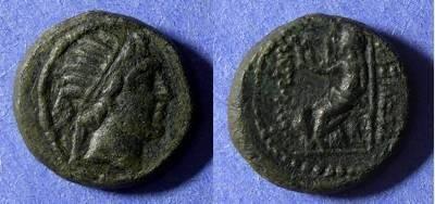 Ancient Coins - Seleucid Kingdom, Antiochos IV 175-164BC, Chalkous