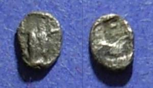 Ancient Coins - Thraco-Macedonian, Uncertain Cica 450 BC, Tetartemorion