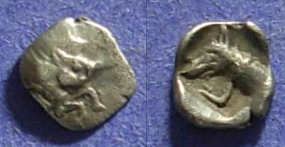 Ancient Coins - Karia, Uncertain Circa 525 BC, Hemiobol