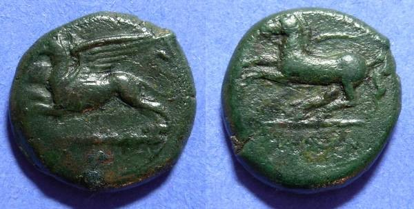 Ancient Coins - Alaisa Sicily AE20 360-340 BC