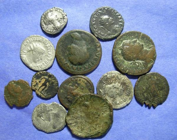 Ancient Coins - 12 Roman coins