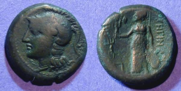 Ancient Coins - Rhegion Bruttium - AE20 Circa 250 BC