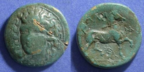 Ancient Coins - Larissa, Thessaly 400-344, AE21