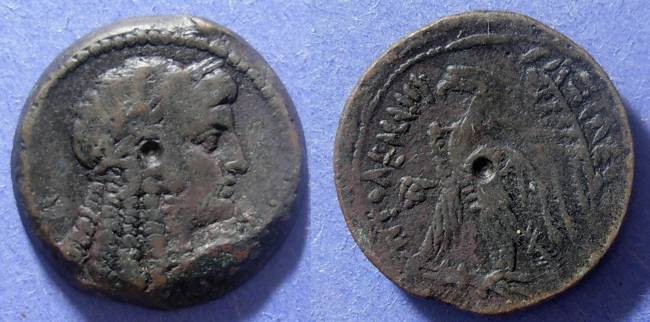 Ancient Coins - Egypt, Ptolemy V 204-180 BC, AE27