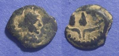 Ancient Coins - Roman Egypt - imitation, Trajan 98-117 AD, Dichalkon