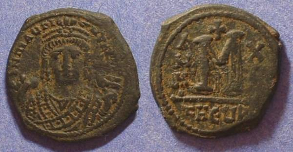 Ancient Coins - Byzantine Empire - Maurice Tiberius 582-602  Follis of Antioch