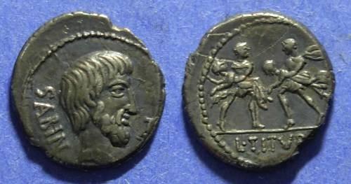 Ancient Coins - Roman Republic T Titurius L f Sabinus 89 BC Denarius