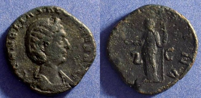 Ancient Coins - Salonina (Wife of Gallienus) 253-268 Sestertius