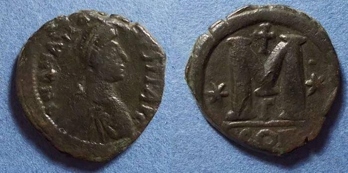 Ancient Coins - Byzantine Empire, Anastasius 491-518, Follis