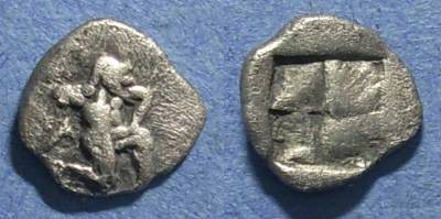 Ancient Coins - Thasos, Island of Thrace 500-463 BC, Diobol