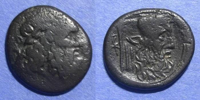 Ancient Coins - Akarnanian Confederacy, Leukas mint 3rd Century BC, AE21