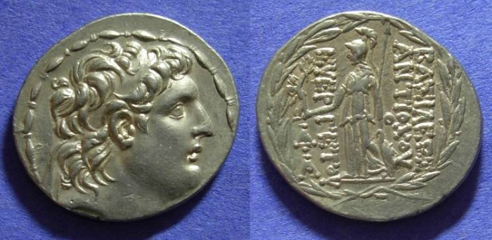 Ancient Coins - Seleucid Kingdom – Antiochos VII 138-129 BC - Tetradrachm