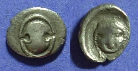 Ancient Coins - Koroneia, Boeotia 400-350 BC, Obol