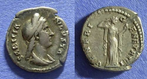 Ancient Coins - Roman Empire Sabina (Wife of Hadrian) 117-137 AD Denarius